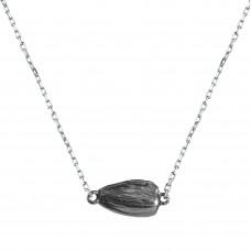 """Подвеска """"Семечка"""" из серебра с покрытием черным родием"""