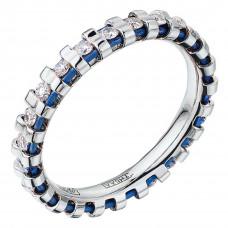Кольцо из белого золота и титана с бриллиантами