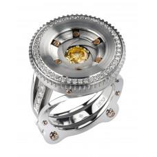 """Кольцо """"Диафрагма"""" из золота с бриллиантами"""