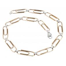 """Чокер """"Скрепки"""" из позолоченного серебра с бриллиантами"""