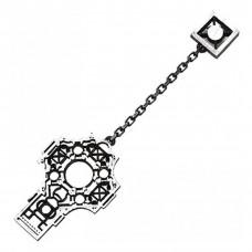 """Серьга """"Греческий крест"""" из серебра"""