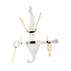 Елочная игрушка из серебра с позолотой