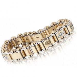 Байкерский браслет из золота