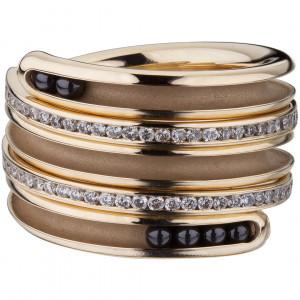 "Кольцо ""Спираль"" из золота с бриллиантами"