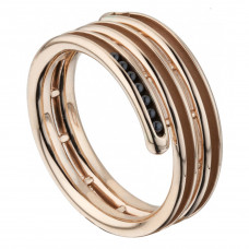 """Кольцо """"Спираль"""" из розового золота"""