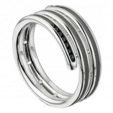 """Кольцо """"Спираль"""" из белого золота"""