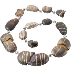 "Колье-трансформер ""Камни"" из золота с бриллиантами и сапфирами"