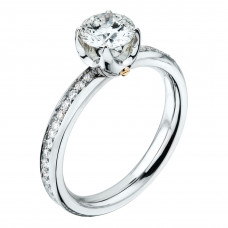 """Кольцо """"Метаморфозы"""" из белого золота с бриллиантами"""