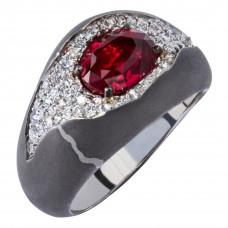 """Кольцо """"Камни"""" с рубином"""