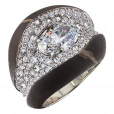 "Кольцо ""Камни"" из белого золота с бриллиантами"