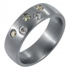 Кольцо из тантала с бриллиантами