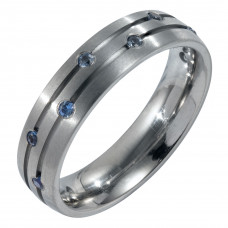 Кольцо из титана с сапфирами