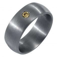 Кольцо из тантала с бриллиантом