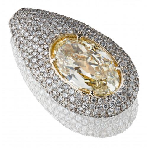 """Колье """"Cветлячок"""" из белого золота с бриллиантами"""