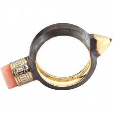 """Кольцо """"Карандаш"""" из серебра с сапфиром и кораллом"""