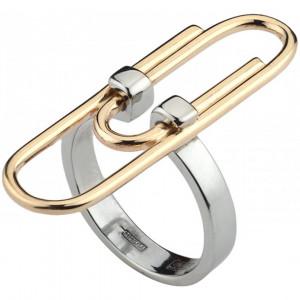 """Кольцо """"Скрепка"""" из золота"""