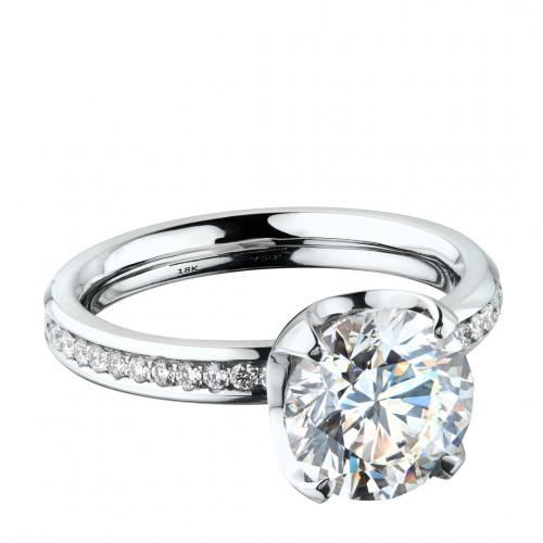"""Кольцо """"Метаморфозы максимум"""" из белого золота с бриллиантами"""